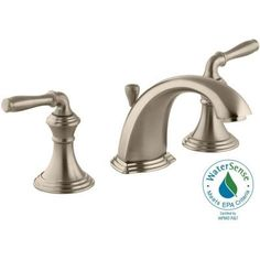 KOHLER Devonshire 8 in. Widespread 2-Handle Low-Arc Bathroom Faucet in Vibrant Brushed Bronze - K-394-4-BV - The Home Depot