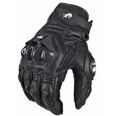 Motorcycle Motorbike Gloves Racing Knight Leather Ride Bike #Unbranded