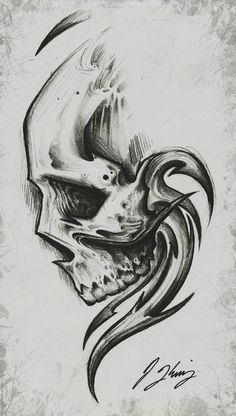 Pin uživatele jessica na nástěnce art tattoo drawings, skull Dark Art Drawings, Pencil Art Drawings, Art Drawings Sketches, Tattoo Sketches, Tattoo Drawings, Cool Drawings, Skull Tattoo Design, Skull Tattoos, Skull Design