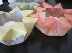 Workshops may include papercrafting, such as watercolored star lanterns. www.syrendell.com