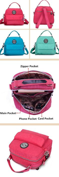 $12.35 Women Waterproof Casual Portable Totes Crossbody Bags Shoulder Bags Backpack