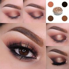 There's more than one way to get that golden glow this summer! Combine a warm champagne pigment with rich matte browns and you'll be well on your way! To create this look the brilliant @muastephnicole used these Makeup Geek products: Creme Brûlée (crease) Bitten (inner & outer thirds) Cocoa Bear (inner & outer thirds) Mocha (outer v & inner corner) Corrupt (outer v inner corner & lower lash line) Afterglow (center of lid inner corner & center of lower lash line) Immortal (upper lash line…