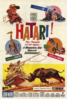 """CAST: John Wayne, Elsa Martinelli, Red Buttons, Hardy Kruger, Gerard Blain, Bruce Cabot; DIRECTED BY: Howard Hawks; PRODUCER: Paramount Pictures; Features: - 11"""" x 17"""" - Packaged with care - ships in"""