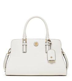 Tory Burch Robinson Color-block Curved Satchel