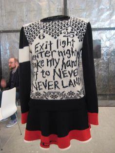 Lisa Ann Auerbach text knitting