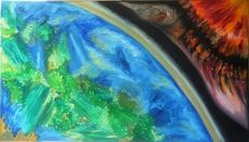 SALES bewegte Wahrnehmung, 115x65cm, Öl auf Leinwand by manuwa