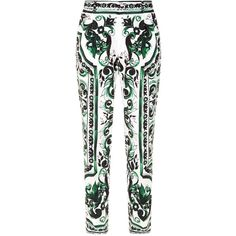 Dolce & Gabbana Baroque Tailored Trousers ($1,010) ❤ liked on Polyvore featuring men's fashion, men's clothing, men's pants, men's casual pants, mens tailored pants, dolce gabbana mens pants and mens cotton pants