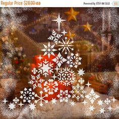 Snowflakes Stencils Kit For Windows Decor Christmas Dcor Free Snow Spray Included