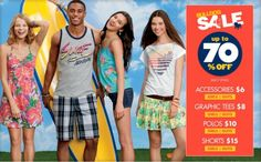 Aeropostale Clearance Sale is Even Better with 30% Off Coupon & 4% Cash Back from GoFatCat.