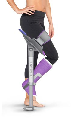 Sit & Stand Walking Assistant May Replace Boring Old Crutches - Gadgets Gadgets And Gizmos, Tech Gadgets, Cool Gadgets, Medical Technology, Technology Gadgets, Technology Careers, Medical Coding, Business Technology, Medical Design
