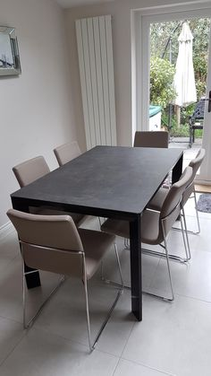 Our Urban ceramic top extendable table comes with steel frame and legs, and  extensions in ceramic. Easy mechanism and smooth to operate. 72b25dd8f27a