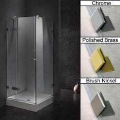 Vigo Frameless Square Clear Shower Enclosure and Base (36 x 36)   Overstock.com Shopping - Big Discounts on Vigo Shower Doors