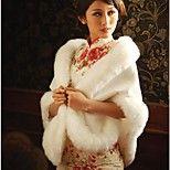 Wedding / Party/Evening Faux Fur Shawls Sleeveless Fur Wraps