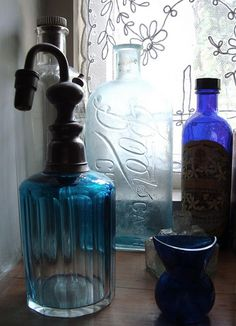 nothing better than light through blue jars...