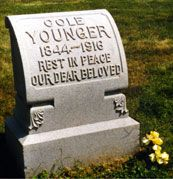 Famous Headstones>The infamous outlaw Cole Younger is buried in the Lee's Summit Historical Cemetery.
