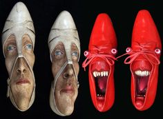 SHOE SCULPTURES  http://thatslikewhoa.com/very-very-strange-shoe-sculptures/