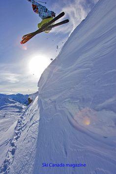 [photo:TEMPEI TAKEUCHI, skier Nobuyuki Ota at Whistler]