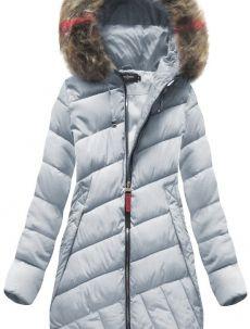 Šedá dámská zimní bunda s kapucí (BH-1849) Winter Jackets, Model, Engagement Ring, Sapphire, Art Deco, Fashion, Winter Coats, Estate Engagement Ring, Moda