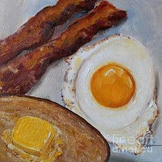 Kristine Kainer - Breakfast Bacon, Egg, and Toast - SOLD - Prints are available