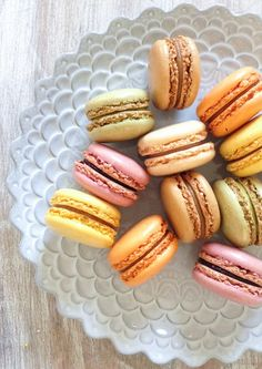Macarons are so colorful and whimsical -- the perfect dessert to serve at a wedding or baby shower!