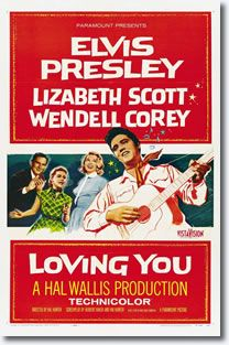 Loving You - Paramount 1957 Elvis' second movie and his first in color was the 1957 Paramount film 'Loving You'. Elvis Presley felt more comfortable in the role of Deke Rivers in Loving You than he had as Clint Reno since the role was based on his real-life career experiences.