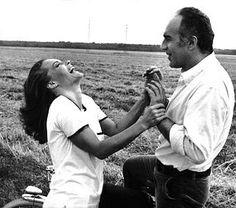 Romy et Michel Piccoli dans Les choses de la vie de Claude Sautet. 1970.