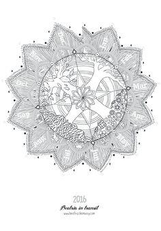 2016 Calendar Wall calendar Colouring Mandala by beatrizchamussy