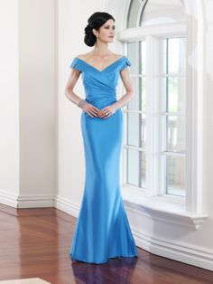 Casual V-neck Satin Mermaid Floor-length Mother of the Bride Dresses