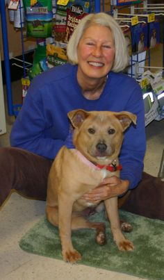 Diane and Macy at PetSmart Adoption Event. Macy found her forever family at Wake County SPCA.