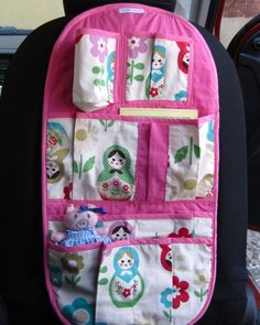 back of the carseat organizer for Averie