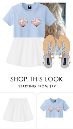 """Mermaid"" by hannahmcpherson12 ❤ liked on Polyvore featuring RED Valentino and Forever New"
