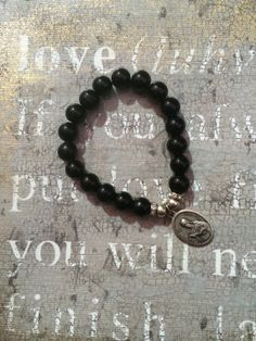 Black Onyx Beads with Sterling Silver beads and by RandBHippieChic, $30.00