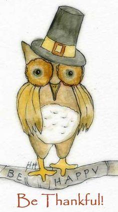 Thankful Owl by luvzdollz Pinned by www.myowlbarn.com
