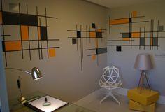 21 Excellent Room Decor For Men Blue - Room Dekor 2021 Bedroom Wall Designs, Diy Wall Painting, Blue Rooms, Geometric Wall, Room Paint, Paint Designs, Wall Murals, Room Decor, Interior Design
