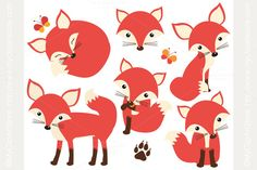 Check out So Foxy! (Fox / Vixen Clipart) by MyClipArtStore on Creative Market