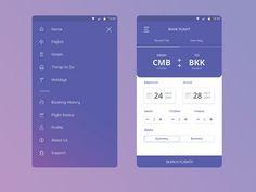 Flight Booking UIUX Concept