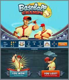 Baseball Champs Game by Valeria Matos, via Behance