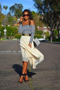 Honey In My Heels: Sweet Stripes #fashion #streetstyle #blogger #ootd