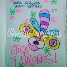 Resultado de imagen para anchetas en foami Notebook Art, Notebook Covers, Cover Pages, Letters And Numbers, Cute Illustration, Doodles, Clip Art, Kawaii, Lettering
