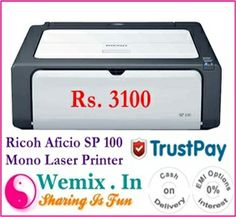 Ricoh Aficio SP 100 Mono Laser Printer Rs. 3100