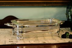 Towle Silver Plate Loaf Pan Stand - Pyrex Glass Baking Dish - Two Piece Buffet Stand Set - Serving Set