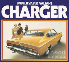 1971 Chrysler VH Valiant Charger Poster by R Muirhead Art Chrysler Charger, Dodge Chrysler, Dodge Charger, Aussie Muscle Cars, American Muscle Cars, Michigan, Chrysler Valiant, Plymouth Valiant, Automobile