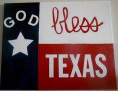 God Bless Texas Canvas