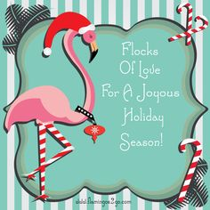 free printable Fancy Flamingo Christmas Card courtesy of Flamingos 2 Go in Houston, Texas, specialists in yard greetings  (110611)