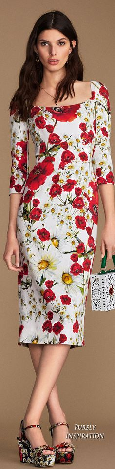 Dolce & Gabbana Spring Time in the City 2016 Collection Women's Fashion RTW | Purely Inspiration
