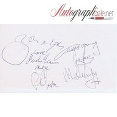 AC/DC Autographed paper by Bon Scott, Angus Young, Malcolm Young, Phil Rudd and Mark Evans http://autographsale.net/index.php/music/acdc/ac-dc-autographs-with-bon-scott-angus-young-signed-uacc.html
