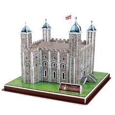 Tower of London is a historic fortress and scheduled monument in central London. This cardboard model is fun and simple for all ages to build. Cardboard Model, Making A Model, Tudor House, Gifted Education, 3d Puzzles, Tower Of London, Bookends, Fun, Counting