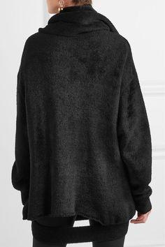 Balenciaga - Cutout Chenille Sweater - Black - FR38