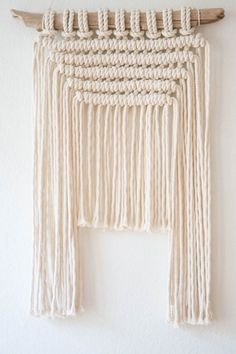 Boho Wall Hanging, Macrame Wall Art, Tapestry, Gift for Her, Driftwood, Natural Cotton Rope, Rustic,