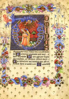Vintage Illuminated Manuscript Bible Psalm Psalms Print Medieval Art Christian David 5 Choices